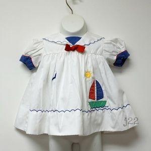 ON a GOOD DAY . puff sleeves sailor dress